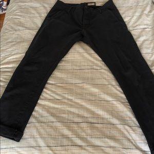 All Saints Men 30 waist Faded Black Jeans